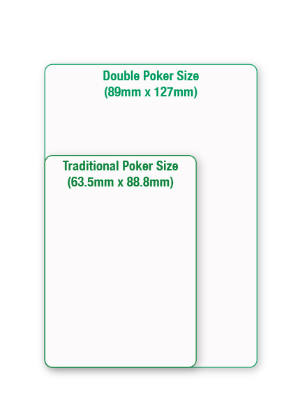 Size Comparison - Double Poker Size